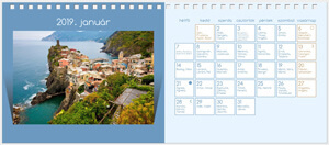 Desktop calendar (Color background)