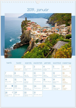 Wall calendar (Color background)